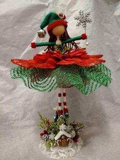 Christmas Tree Fairy, Christmas Crafts, Christmas Decorations, Christmas Ornaments, Holiday Decor, Fairy Crafts, Doll Crafts, Diy Doll, Ornament Hooks