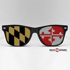 Black Maryland Flag Front / Sunglasses