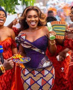 African Fashion Dresses, African Dress, Kente Dress, Black Bride, Engagement Dresses, Traditional Wedding, Ootd Fashion, Peplum Dress, Our Wedding