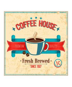 This 'Coffee House' Print by Heart of the Home is perfect! #zulilyfinds