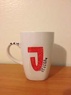 Monogrammed Coffee Mug. Name and Initial. by TheHomemadeHipster, $15.00