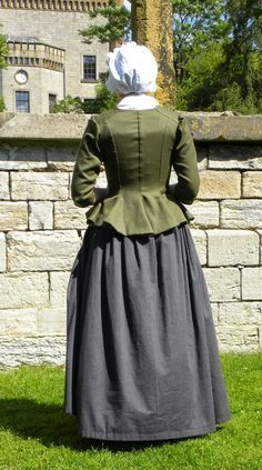 Copricapo giacca e gonna 17th Century Clothing, 18th Century Dress, 18th Century Costume, 18th Century Fashion, Historical Costume, Historical Clothing, Medieval, Victorian Costume, Period Outfit