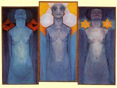 Piet Mondrian, Evolution, 1910–11.