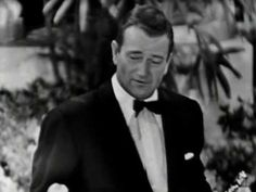 "Academy Awards® ~ John Wayne ~ – accepts the Best Actor Oscar® on behalf of Gary Cooper for his performance in ""High Noon"" Old Hollywood Glam, Golden Age Of Hollywood, Classic Hollywood, Classic Movie Stars, Classic Movies, Janet Gaynor, Best Actor Oscar, Gary Cooper"