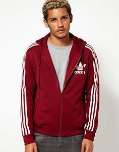 Shop Adidas Originals Hooded Trefoil Track Top at ASOS.