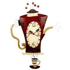 Allen Designs Steamin' Tea Teapot Pendulum Wall Clock christmas gift from parents