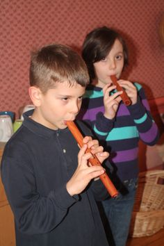 students playing on their flutes