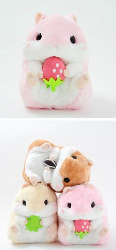 Kawaii hamsters stuffed animals Coroham Coron no Daikobutsu Hamster Plush Collection (Big) Hamsters, Pet Toys, Kids Toys, Children's Toys, Crochet Kawaii, Crochet Dolls, Kawaii Room, Cute Pillows, Diy Pillows