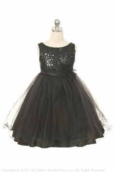 Black Flower Girl Dress, I think it's different but beautiful!
