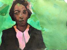 """Ruth Franklin """"Tijuana"""", 2017 acrylic on watercolor paper 22 x 30 in. June 22, Watercolor Paper, Trains, Atlanta, Original Paintings, Art Gallery, British, Woman, Art Museum"""