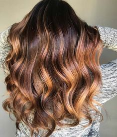 Warm Balayage Hair Color Idea