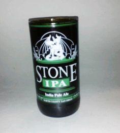 Recycled Bottle Glass Stone IPA Beer Bottle by AHigherRePurpose, $12.00