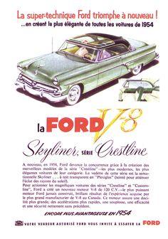 1954 Ford  Ford Skyliner Crestline Poster Size Advert by AtomicScrapbook on Etsy