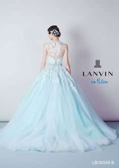 【LANVIN】大人可愛いライトブルー | Mode Marie(モード・マリエ) Blue Wedding Dresses, Blue Dresses, Wedding Colors, Wedding Gowns, Different Dresses, Fantasy Dress, Elegant Dresses, Beautiful Gowns, Ball Gowns