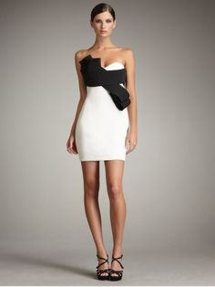 Buy Notte by Marchesa Women's White Bow-front Contrast Dress. Similar products also available. Dress Me Up, Dress Skirt, Homecoming Dresses, Bridesmaid Dresses, Satin Cocktail Dress, Cocktail Dresses, Women's Evening Dresses, Holiday Fashion, Festival Outfits