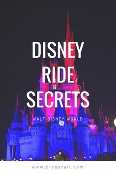 Disney Ride Secrets