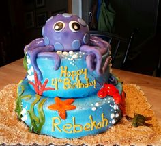 My favorite cake ever I did. It was so fun!!