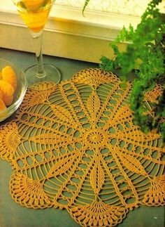 Diy Crafts - Magic Crochet Magazine August 1988 Issue by KnitKnacksCreations Free Crochet Doily Patterns, Crochet Doily Diagram, Crochet Motif, Crochet Designs, Blanket Crochet, Crochet Table Runner, Crochet Tablecloth, Crochet Dollies, Crochet Flowers