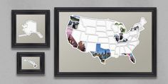 Add your own photos to each of the 50 US states to capture a lifetime of memories and create a one-of-a-kind map showing where youve been or where youre going.  This USA photo map is great for anyone with the goal of visiting all 50 states. If youre looking for an added challenge find something to do in each state such as: Visit the highest point, run a marathon, drink a beer brewed in that state, visit the capital, take a picture at the state line, or invent your own!  For a version of…