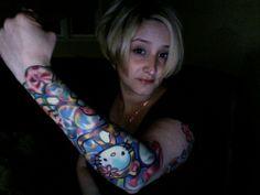 hello kitty tattoo sleeve