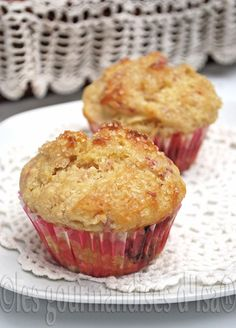Les gourmandises d'Isa: MUFFINS AUX POMMES ET AUX FRAMBOISES Muffin Recipes, Baking Recipes, Muffin Bread, Peanut Butter Pretzel, Breakfast Muffins, Brownie Cookies, No Bake Desserts, Coffee Cake, Biscuits