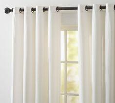 For sliding glass door and bay window - Cameron Cotton Grommet Drape #potterybarn