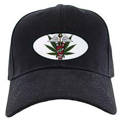 Medical Marijuana Caduceus Stonewashed Cap by ornorml