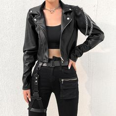 Street Style Outfits, Edgy Outfits, Teen Fashion Outfits, Cute Casual Outfits, Punk Fashion, Coats For Women, Jackets For Women, Clothes For Women, Kids Clothing