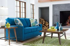 La-Z-Boy Kennedy Sofa | This sofa's narrow arms make it ideal for smaller spaces. The welt trim highlights the clean lines. Plus, PIN TO WIN an ottoman! Get contest details at http://houseandhome.com/la-z-boy | #LaZBoy #Sofa #LivingRoom #Furniture
