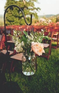 Garten Deko für Hochzeitsfeier draußen   DIY Glas verzieren