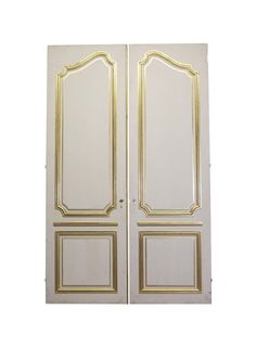 Elegant French Provincial 2 Pane Double Doors 108 x 67.5