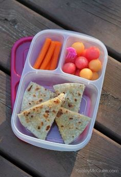 Chicken and Manchego (Spanish Sheeps Milk Cheese)  Quesadilla packed for lunch! #easylunchboxes