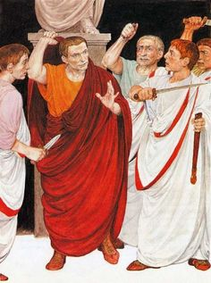 Death of Caesar. Illustration by Denis Gordeev. Gaius Julius Caesar, Roman Clothes, Roman Republic, Roman History, Historical Art, Romanesque, Roman Empire, Emperor, Rome