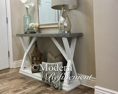 rustic farmhouse entryway table. di ModernRefinement su Etsy