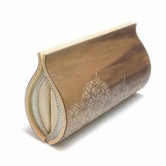 such a cool clutch made from walnut