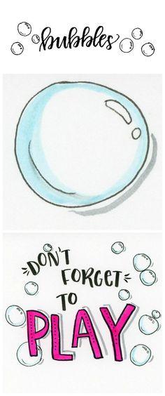 Basic Hand Lettering: Bubble Embellishments - One Artsy Mama