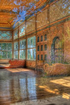 Pasha Summerhouse - Taken through the window because the Summerhouse is closed to the public, resulted in interesting reflections of the garden