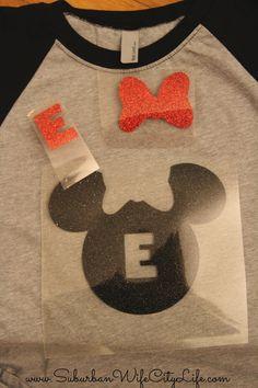 DIY Disney Shirt with cricut slice