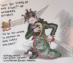 #motivationalquote from#edgechronicles by Paul Stewart and Chris Riddell. 'Will you stand up and fight?' he wondered bitterly. 'Or do you intend to remain on your knees forever?'