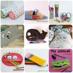 Raccolta di tutorial per accessori scolastici fai da te: astucci, zainetti, etichette per i libri. Tanti schemi, cartamodelli e tutorial.