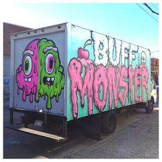 Buff Monster | Street art | mural | urban art | graffiti | spray paint | artwork | painting