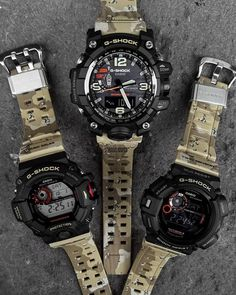 g-shock-desert-camo-gwg-1000dc-1a-gw-9300dc-1-gw-9400dcj-1-2 G Shock Watches Mens, Sport Watches, Watches For Men, G Shock Mudmaster, New G Shock, Amazing Watches, Cool Watches, Tactical Watch, Swiss Army Watches