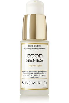 """GOOD GENES: Sunday Riley's corrective serum is designed to give you the flawless look of having """"good genes."""" This multi-tasking treatment plumps fine lines, improves circulation, brightens and evens tone, and helps to restore damaged skin - it can even be used as a mask."""