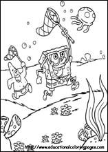 Sponge Bob Coloring Pages free For Kids (printables)