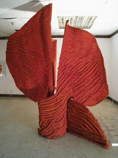 Jagoda Buic_Sculptural installation of Buic's textile work