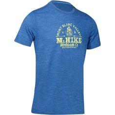 Pánske trekingové tričko TechWool 155 s krátkym rukávom modré
