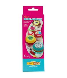 DekoBack Essbares Muffinaufleger Malset 16tlg. mit Lebensmittelstiften   - 2-flowerpower