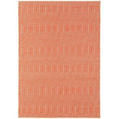 Debenhams Orange woollen 'Sloane' rug | Debenhams