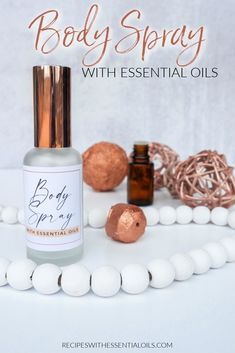 Body Spray with Essential Oils - Recipes with Essential Oils Joy Essential Oil, Essential Oil Perfume, Essential Oil Blends, Homemade Body Spray, Perfume Recipes, Perfume Body Spray, Au Natural, Natural Oils, Natural Beauty