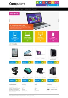 OMG!!! Computer Store Responsive Shopify Theme CLICK HERE! live demo http://cattemplate.com/template/?go=2enta88